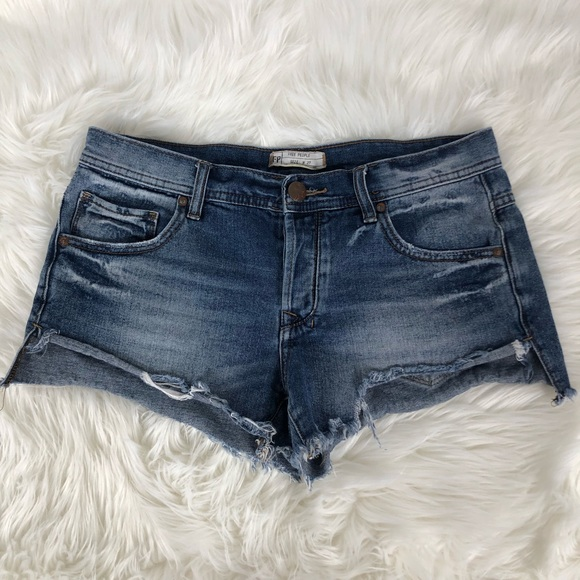 Free People Pants - Free People Distressed Cut Off Denim Jean Shorts